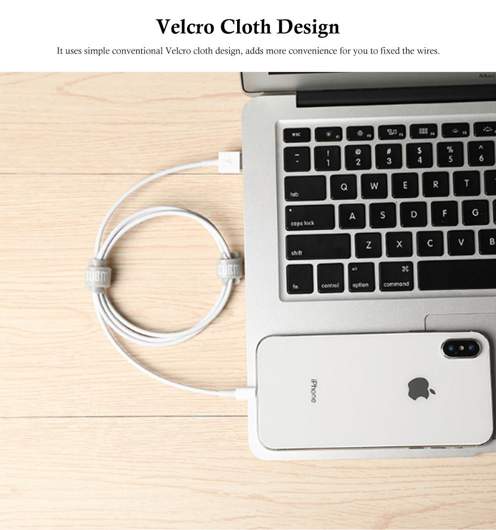 Releasable Nylon Cable Ties with Velcro Cloth Design, Self-Locking Nylon Cable Clip Organizer, 5 Colors, 40 Pcs 5