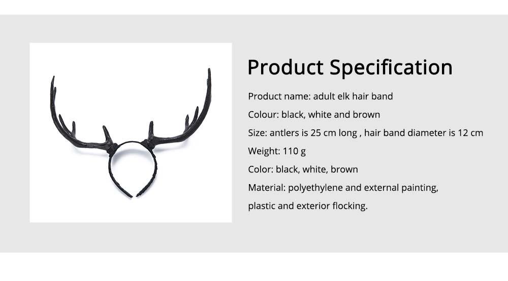 Elk Antlers Hair Band Head Hoop for Birthday Anniversary Cartoon Polyethylene Plastic Lovable Head-wear 6