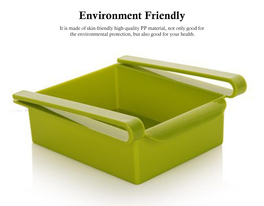 Slide Design Refrigerator Food Crisper, Commodity Shelf, Drawer Type PP Storage Box 6
