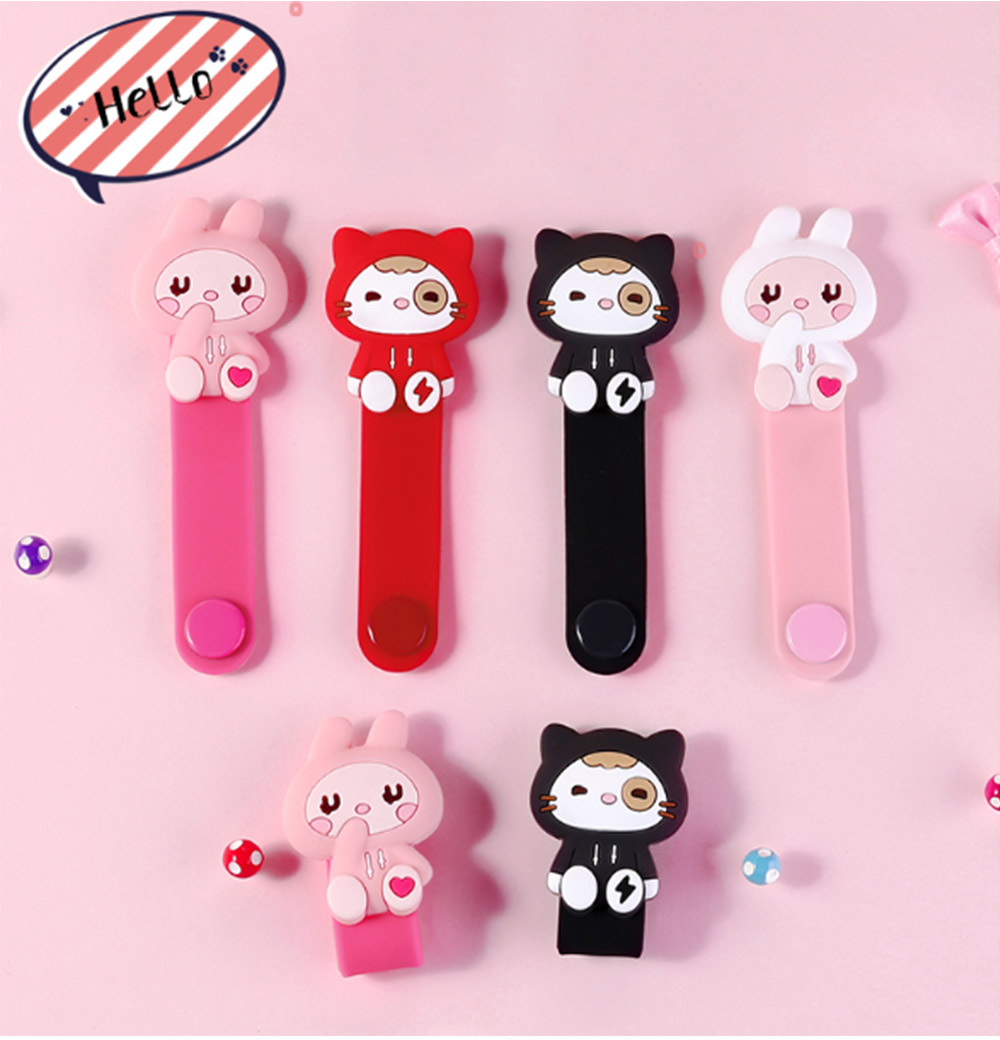 Cute Earphone Cable Protector, Lovely Cartoon Shape Winder, with Metal Hidden-interlocking 1