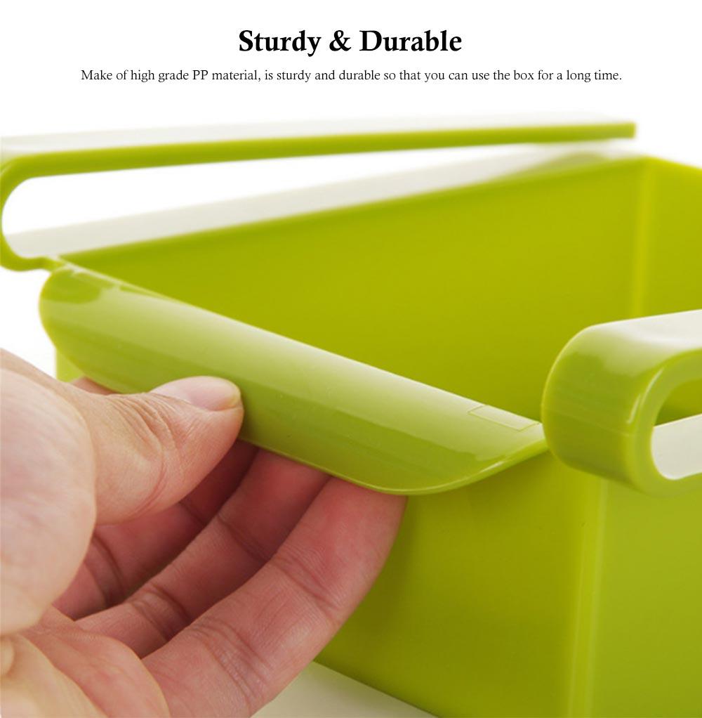 Slide Design Refrigerator Food Crisper, Commodity Shelf, Drawer Type PP Storage Box 4