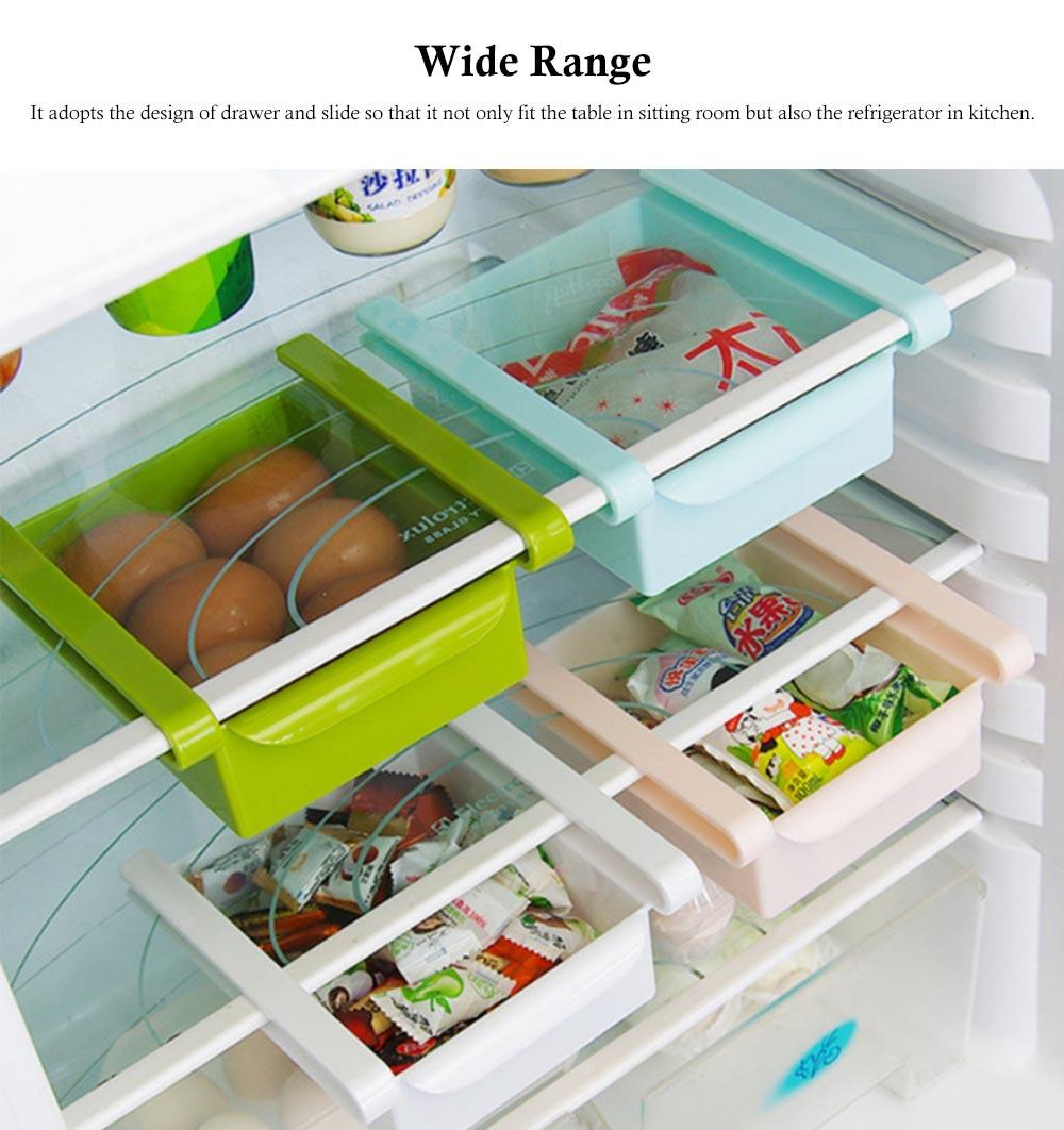 Slide Design Refrigerator Food Crisper, Commodity Shelf, Drawer Type PP Storage Box 2