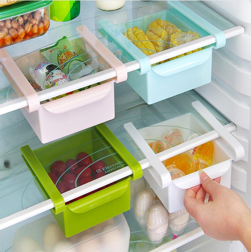 Slide Design Refrigerator Food Crisper, Commodity Shelf, Drawer Type PP Storage Box 1