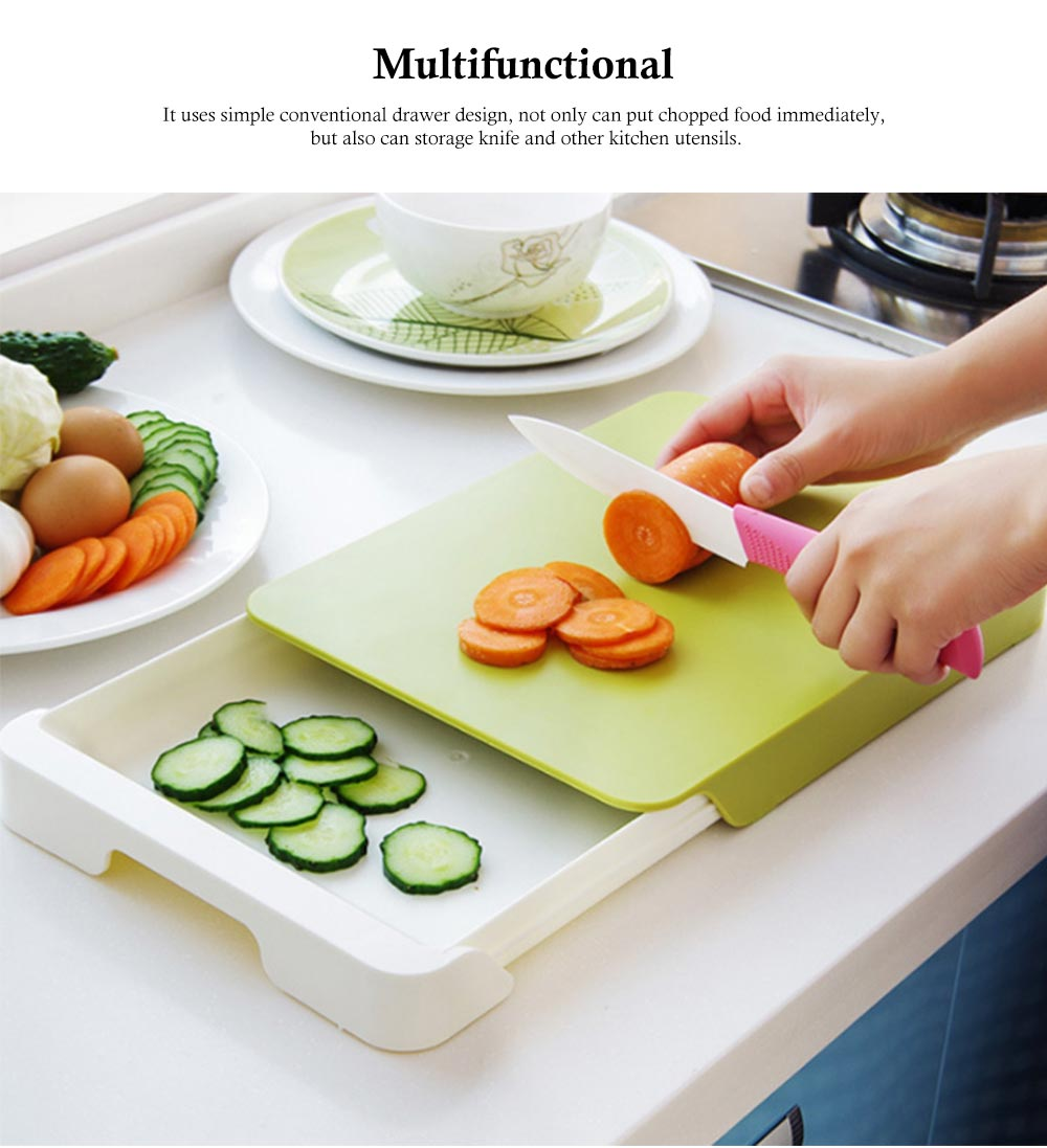 Drawer Type Cutting Board, Slide Out Kitchen Cutting Board With Study And Durable Food Grade PP Material 4