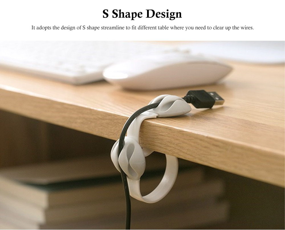 Tableside Wire Clip, with S Shape Design, PP and Silicone Material, Fit Different Thicknesses of The Table 2