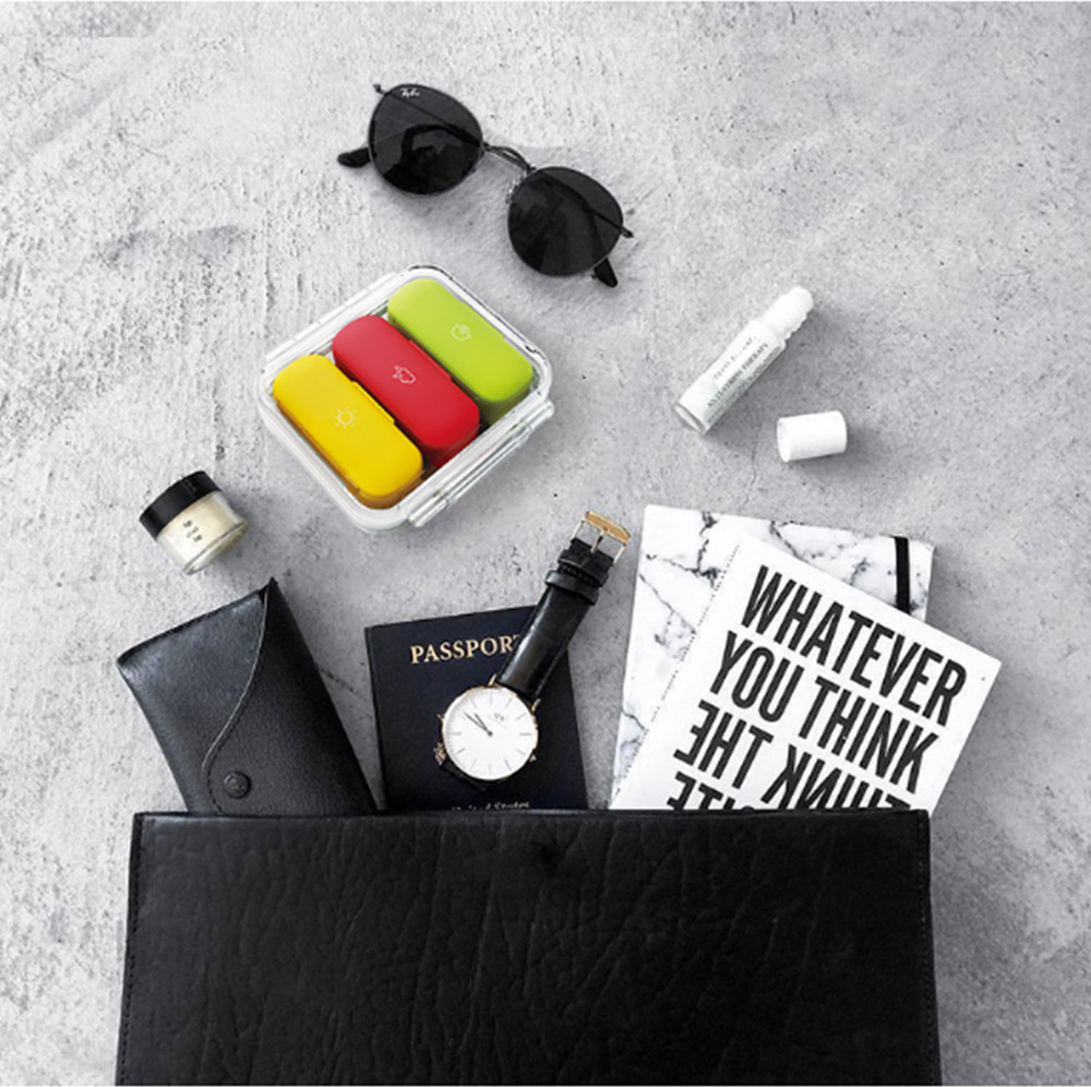 Daily Pill Organizer 3 Times A Day, With 3 Removable Inner Silicone Tablet Medicine Storage Box 7
