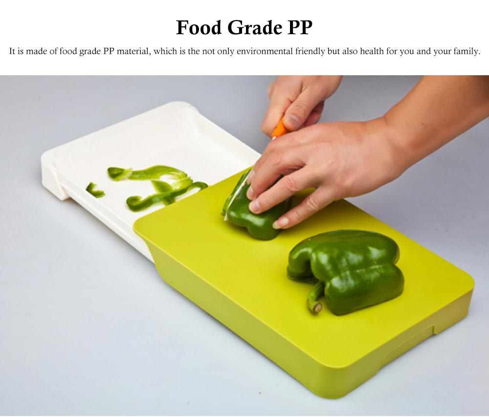 Drawer Type Cutting Board, Slide Out Kitchen Cutting Board With Study And Durable Food Grade PP Material 5