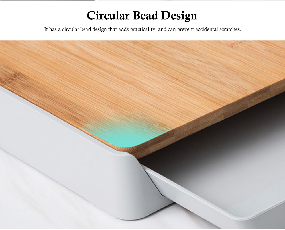 Pull-down Cutting Board, with Drawer Design, Food Grade ABS and Bamboo Material, Multifunctional Storage Board 2