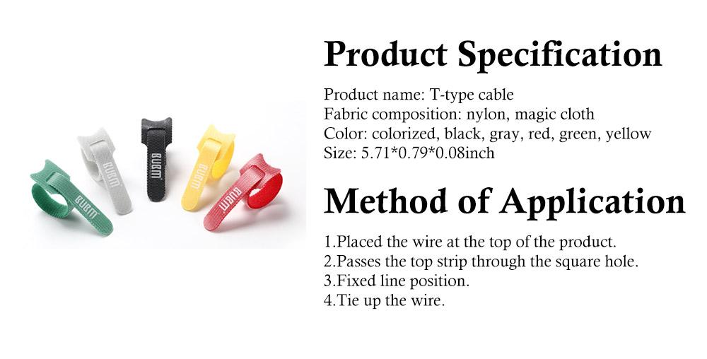 Releasable Nylon Cable Ties with Velcro Cloth Design, Self-Locking Nylon Cable Clip Organizer, 5 Colors, 40 Pcs 7