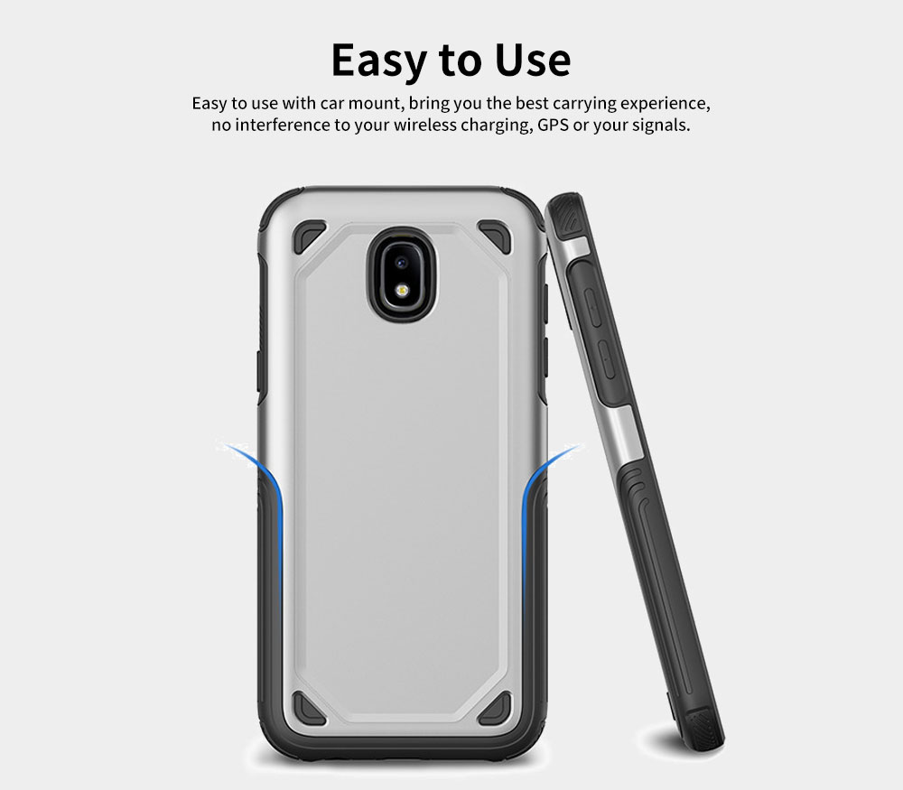 Innovative Armor Phone Case, Two-in One Phone Protection Cover Shatterproof for Samsung, iPhone 10