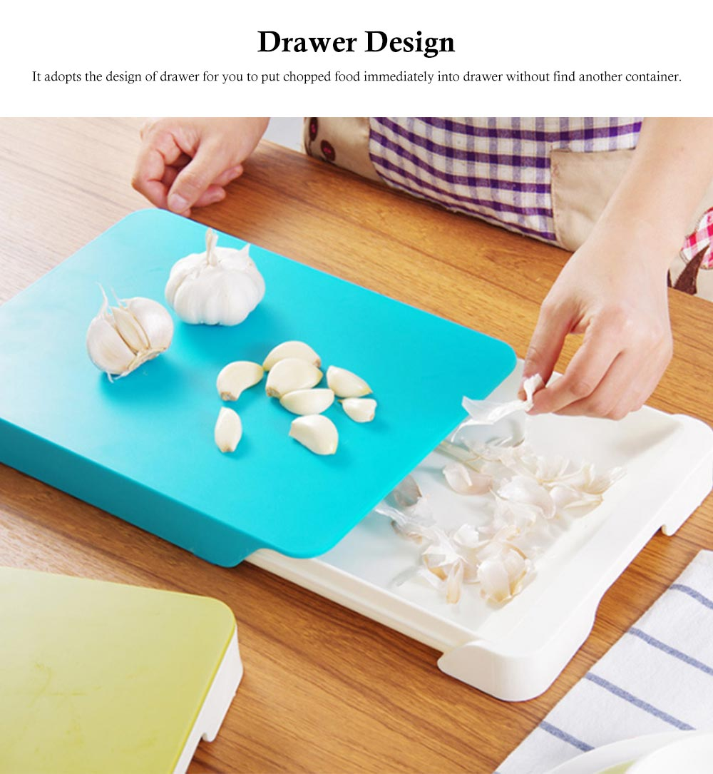 Drawer Type Cutting Board, Slide Out Kitchen Cutting Board With Study And Durable Food Grade PP Material 1