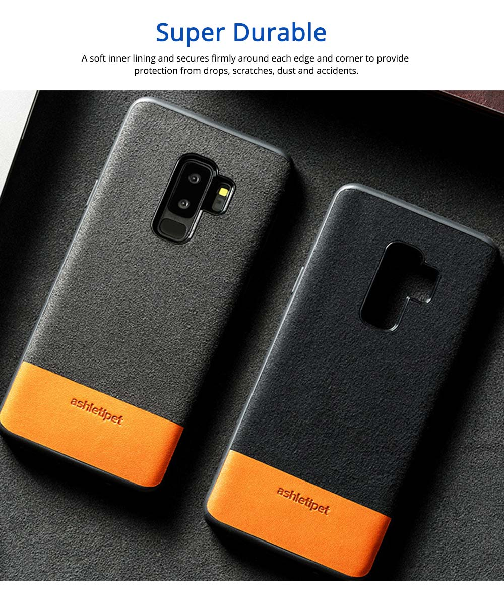 Samsung Genuine Leather Case, Creative Color Matching Elegant Phone Protective Case for Samsung note8, S7 edge, S9 3