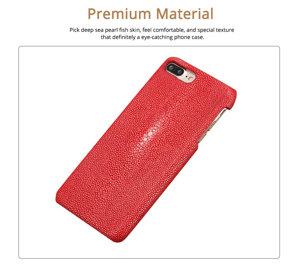Shatter-resistant Protective Cover for iPhone X, 8plus, 7plus, iPhone Case Ultra-thin Genuine Leather Back Cover 1