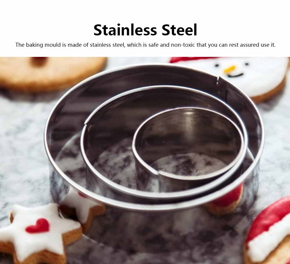 12 Set Cookie Mould Stainless Steel Cookie Fruit Vegetable Egg Cutter Love Round Hexagon DIY Baking Mould 1
