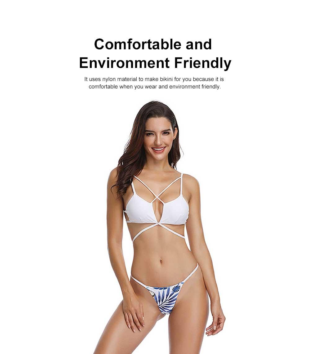 Triangle Bikinis Swimwear, Western Style Women Swimsuit with Environment Friendly Nylon Fabric 4