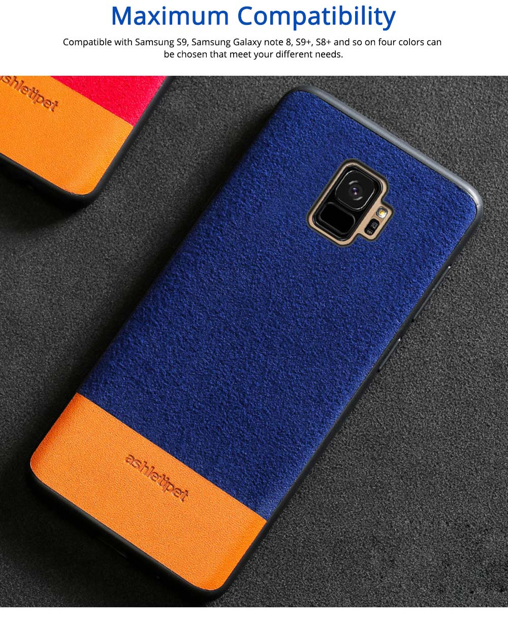Samsung Genuine Leather Case, Creative Color Matching Elegant Phone Protective Case for Samsung note8, S7 edge, S9 5