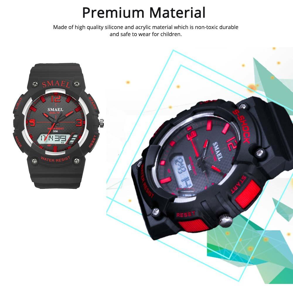 Student Watch Digital Pointer Dual Display Electronic Watch Luminous Alarm Clock 2