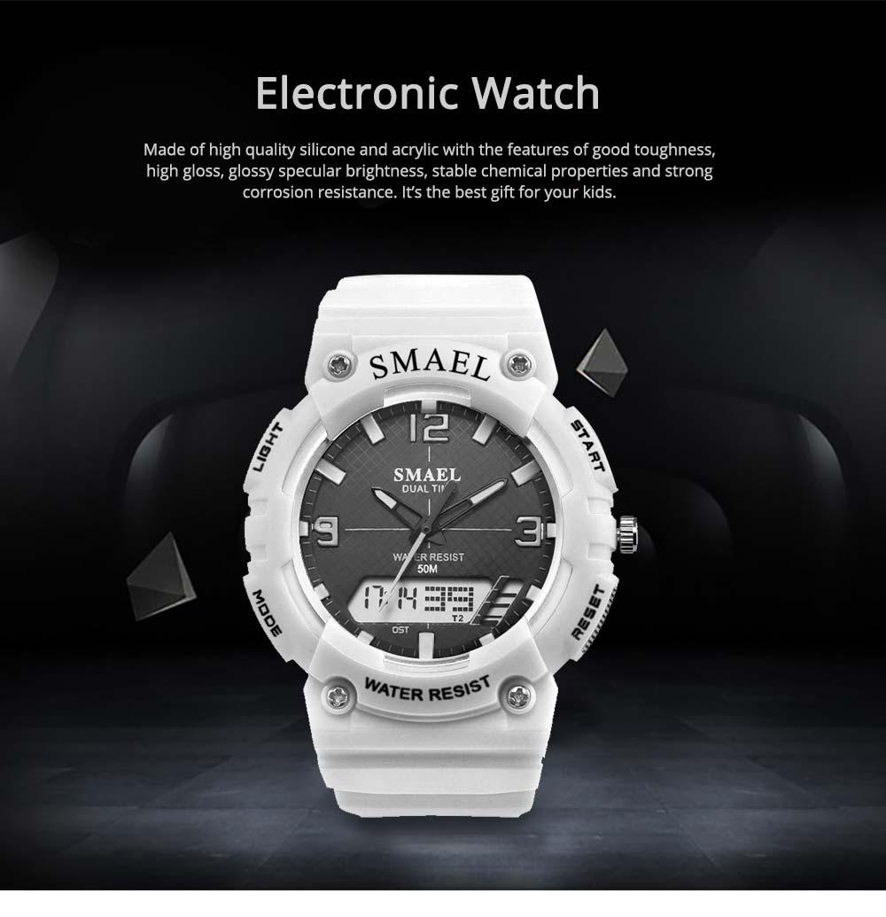 Student Watch Digital Pointer Dual Display Electronic Watch Luminous Alarm Clock 0