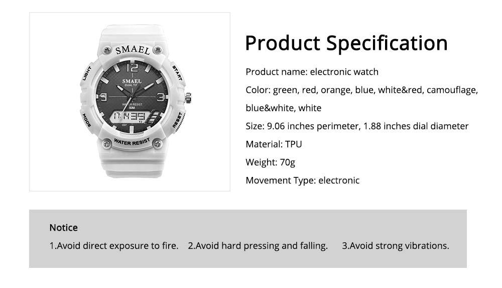 Student Watch Digital Pointer Dual Display Electronic Watch Luminous Alarm Clock 6