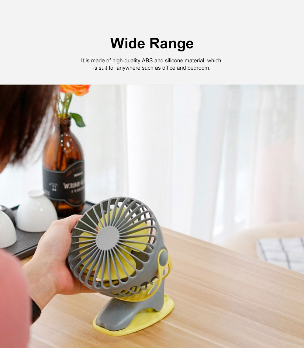 USB Rechargeable Desk Fan, Portable USB Fan with ABS and Silicone Material, Convenient Clip Design 5