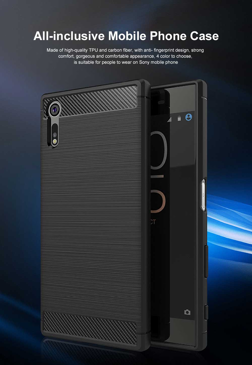 All-inclusive Phone Case for Snoy XZ, Anti Fingerprint Snoy A1 Premium Case with TPU and Carbon Fiber 0