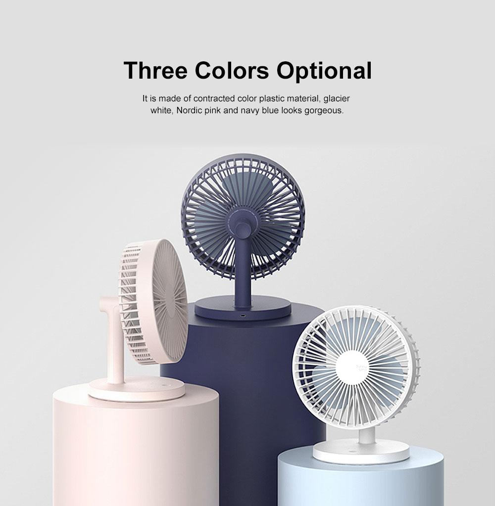 Mini Plastic USB Fan 3 Blades, Portable Desktop Cooling Silent Fan 5