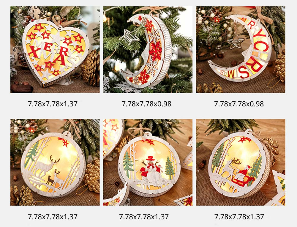 LED Night Light Decorative Lamp for Christmas, Creative LED Tabletop Lamps for New Year Gift Wedding Party Christmas Decor 7