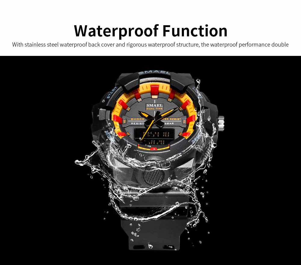 Outdoor Electronic Sports Watch, Multi-function Water Resistant Digital Quartz Wrist Watch 1