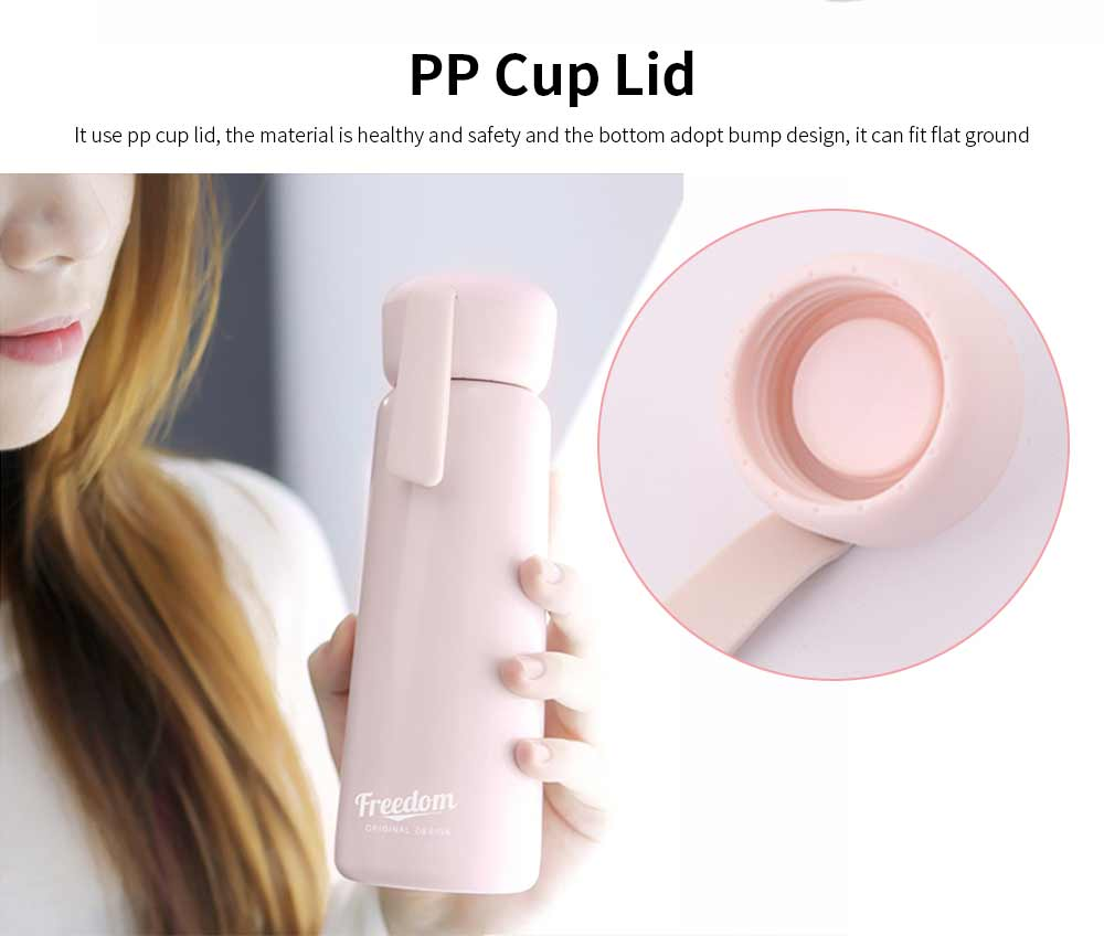 Stainless Steel Thermos Water Bottle Vacuum Insulation Cup, Suitable for Female Students, with Portable Rope 5