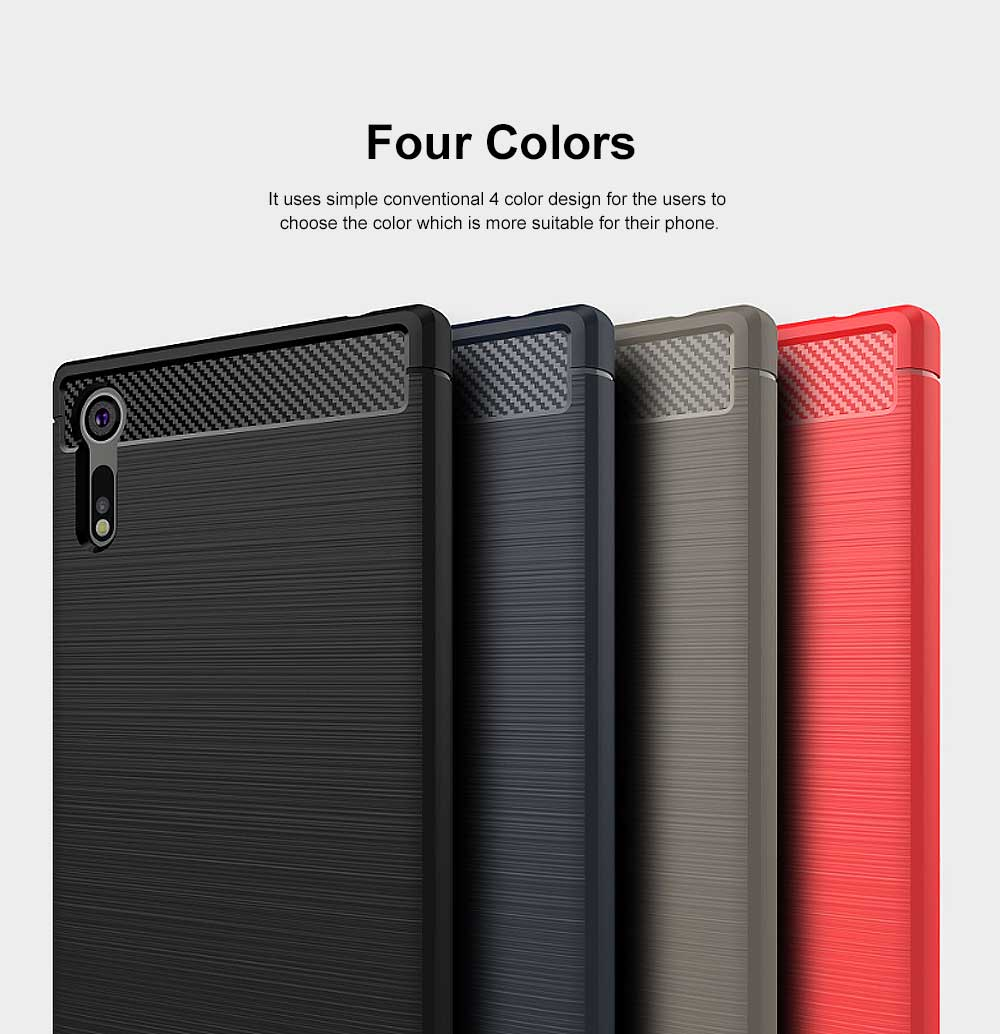 All-inclusive Phone Case for Snoy XZ, Anti Fingerprint Snoy A1 Premium Case with TPU and Carbon Fiber 4