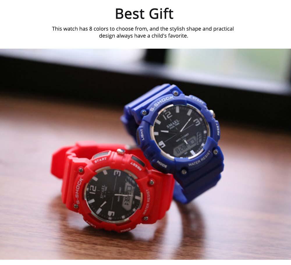 Student Watch Digital Pointer Dual Display Electronic Watch Luminous Alarm Clock 5
