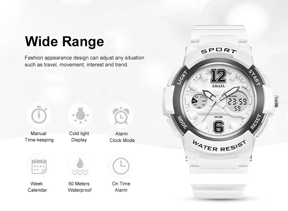 Multi-Functional Quartz Watch for Girls, Cool Hip Hop Electronic Sport Watch 5