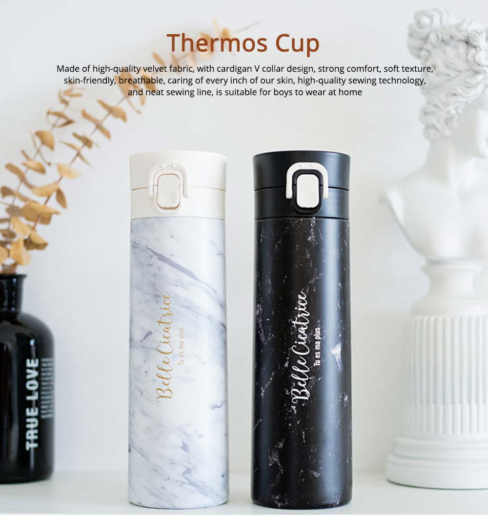Fashion Marble Thermos Cup, Vacuum Insulated Stainless Steel Water Bottle, Sports Coffee Travel Mug 0
