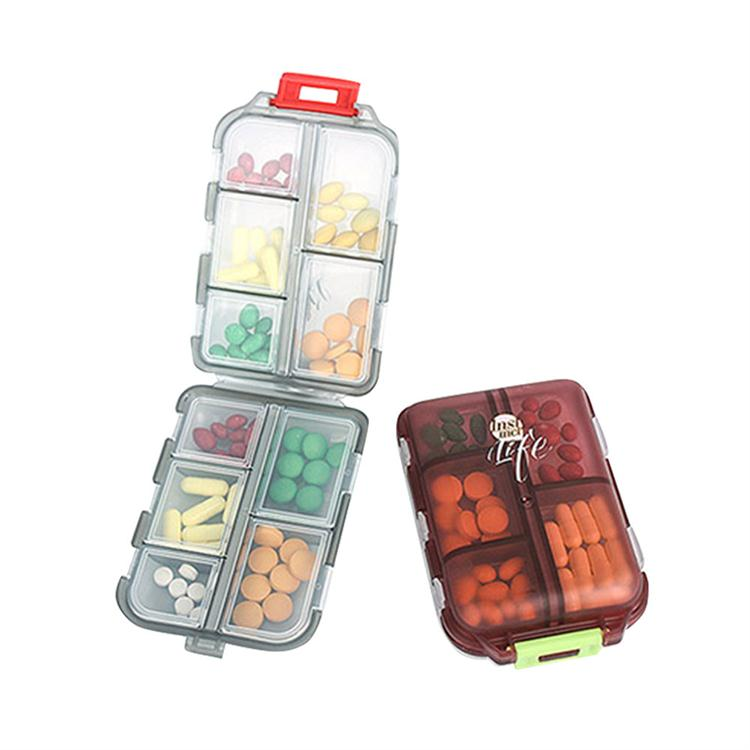 Tablet Medicine Vitamin Pill Organizer Box for Purse or Pocket, Bidear Portable Travel Pill Case, 10 Compartments 17