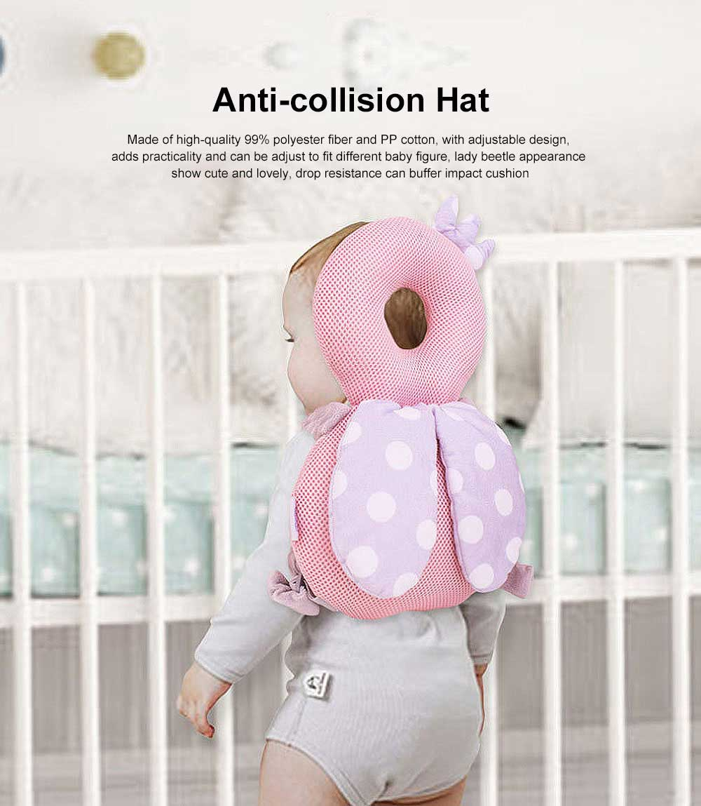 Lady Beetle Baby Head Protection Pillow, Baby Head Protector Toddlers Head Safety Pad Cushion Suitable Age 4-24 Months 0