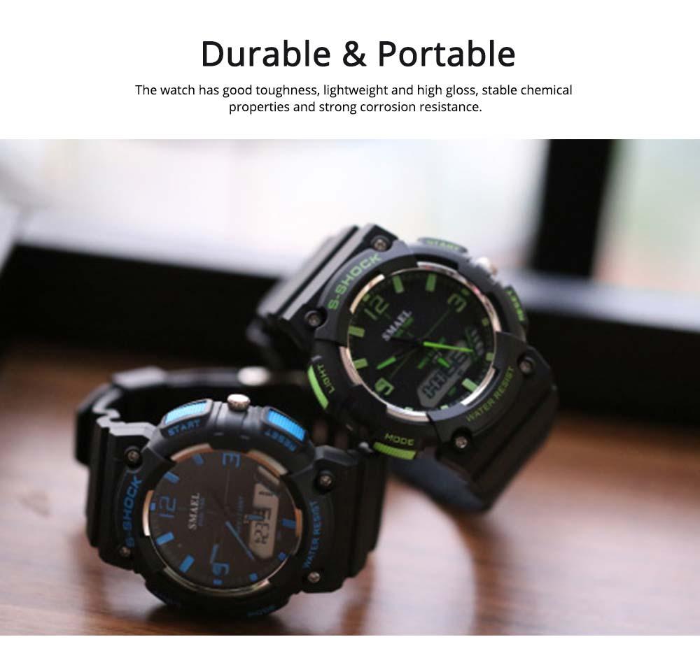 Student Watch Digital Pointer Dual Display Electronic Watch Luminous Alarm Clock 3