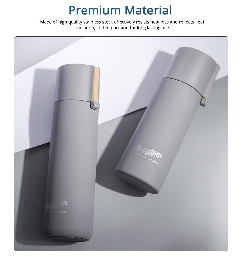 Stainless Steel Vacuum Flask, Creative Simple Student Cup Lovers Cup, Portable Office Travel Hiking Outdoor Sports Bottle 1