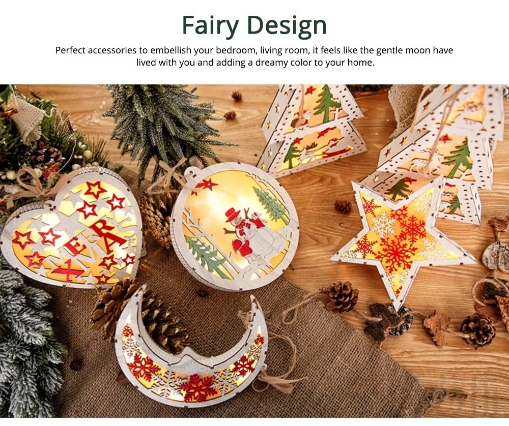 LED Night Light Decorative Lamp for Christmas, Creative LED Tabletop Lamps for New Year Gift Wedding Party Christmas Decor 2