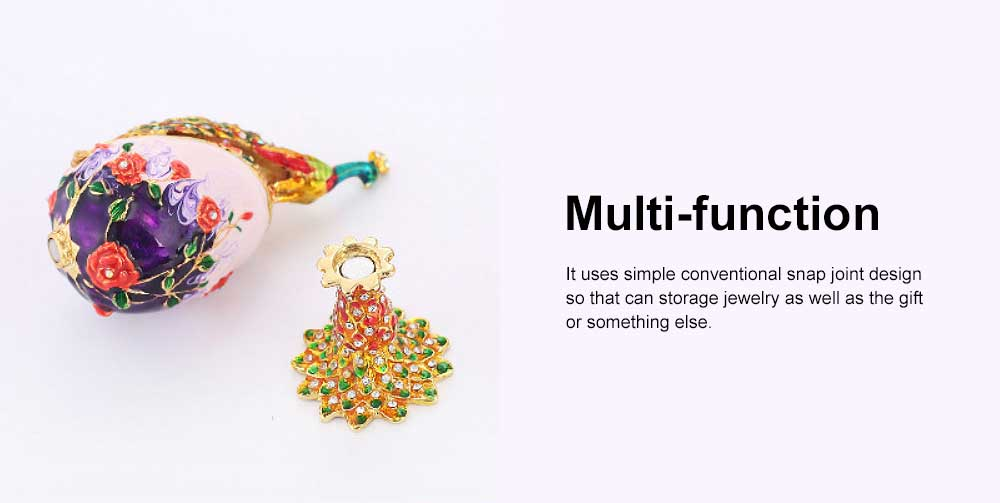 Southeast Asian Style Jewelry Box, Zinc Alloy Peacock Shape Multi-function Birthday Gift Box 4