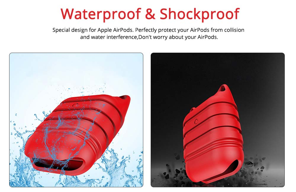 Silicone AirPod Case Shockproof Protective Case Cover for Apple AirPods Charging Case 1