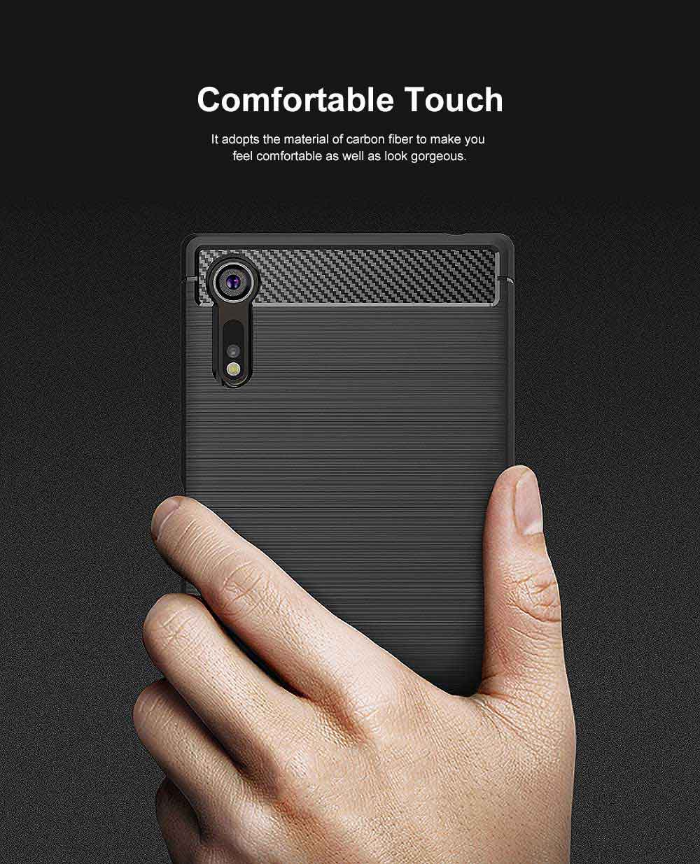 All-inclusive Phone Case for Snoy XZ, Anti Fingerprint Snoy A1 Premium Case with TPU and Carbon Fiber 1