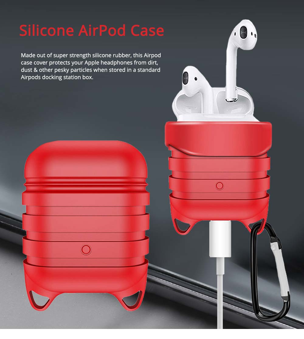 Silicone AirPod Case Shockproof Protective Case Cover for Apple AirPods Charging Case 0