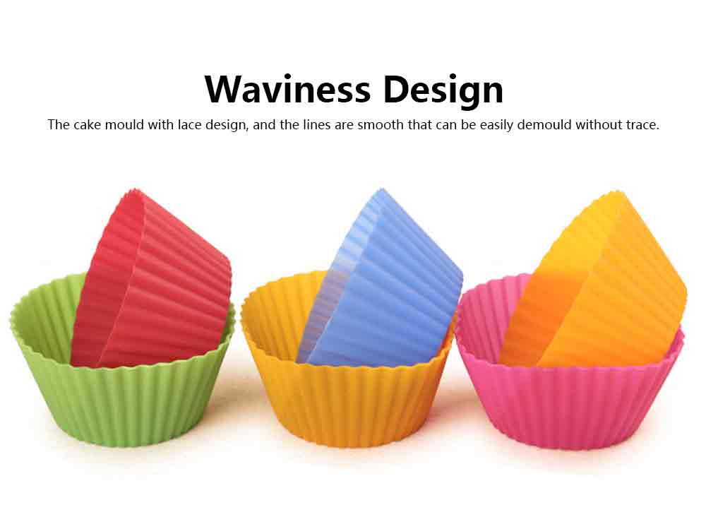 Silicone Baking Moulds, Steamed Cake Mold, Chiffon Cup Muffin Cup for Household High Temperature Resistant Cake Mold 4