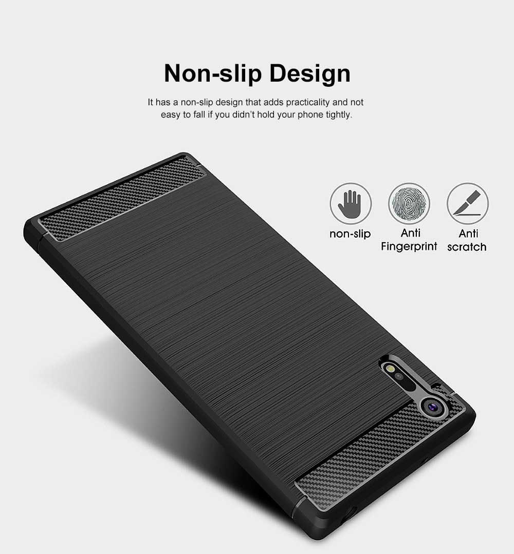 All-inclusive Phone Case for Snoy XZ, Anti Fingerprint Snoy A1 Premium Case with TPU and Carbon Fiber 2
