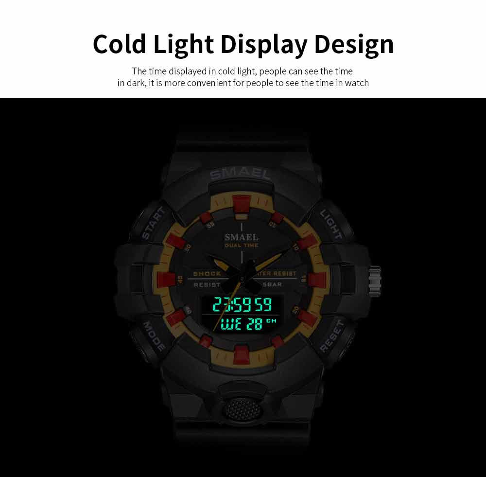 Outdoor Electronic Sports Watch, Multi-function Water Resistant Digital Quartz Wrist Watch 4
