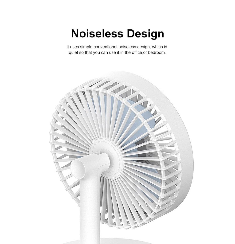 Mini Plastic USB Fan 3 Blades, Portable Desktop Cooling Silent Fan 4