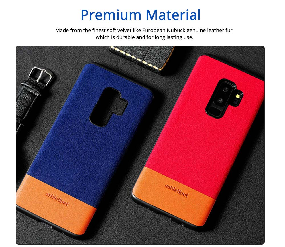 Samsung Genuine Leather Case, Creative Color Matching Elegant Phone Protective Case for Samsung note8, S7 edge, S9 1