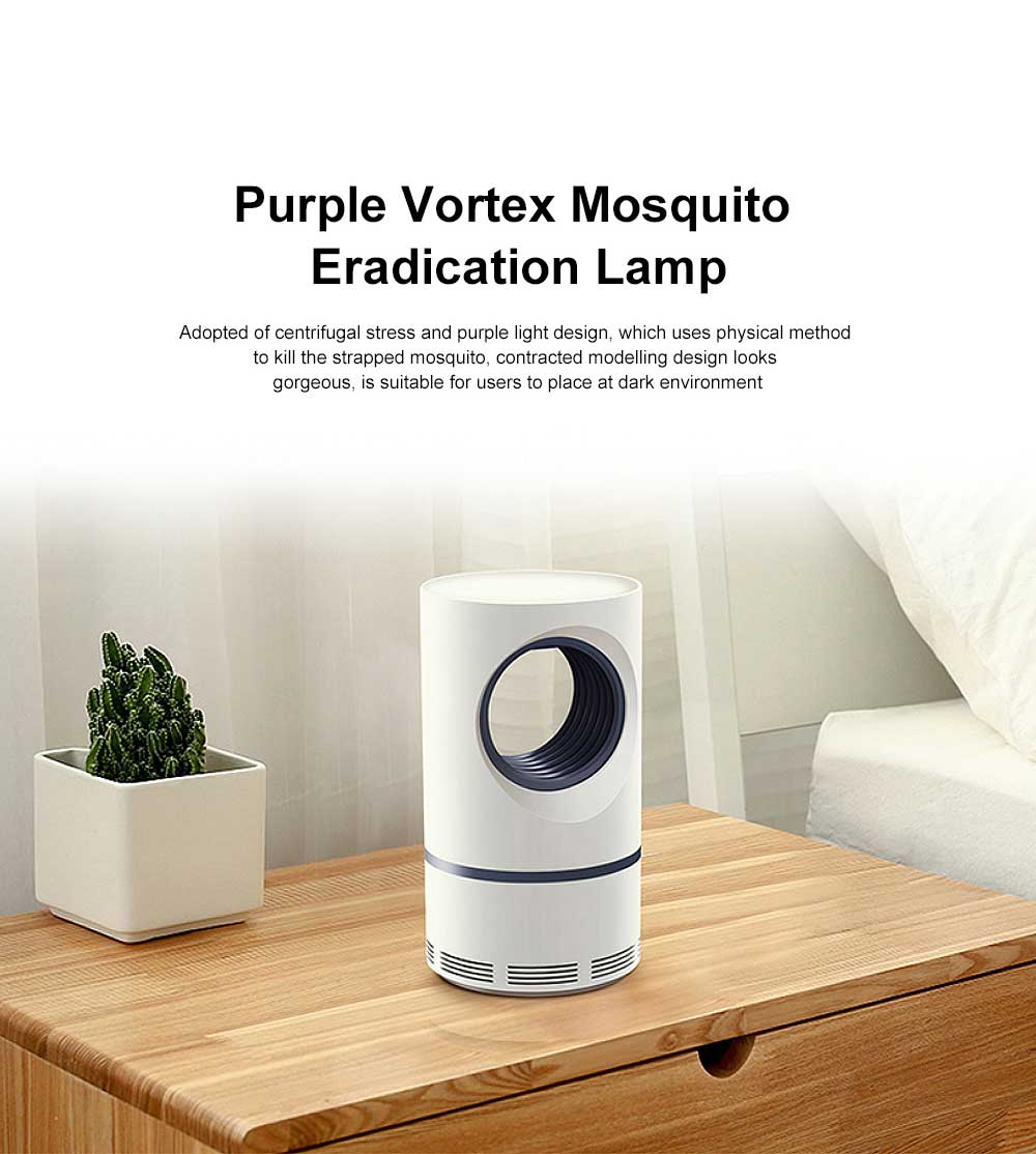 Purple Vortex Mosquito Eradication Lamp with Centrifugal Stress Design and Storage Died Mosquito Box 0