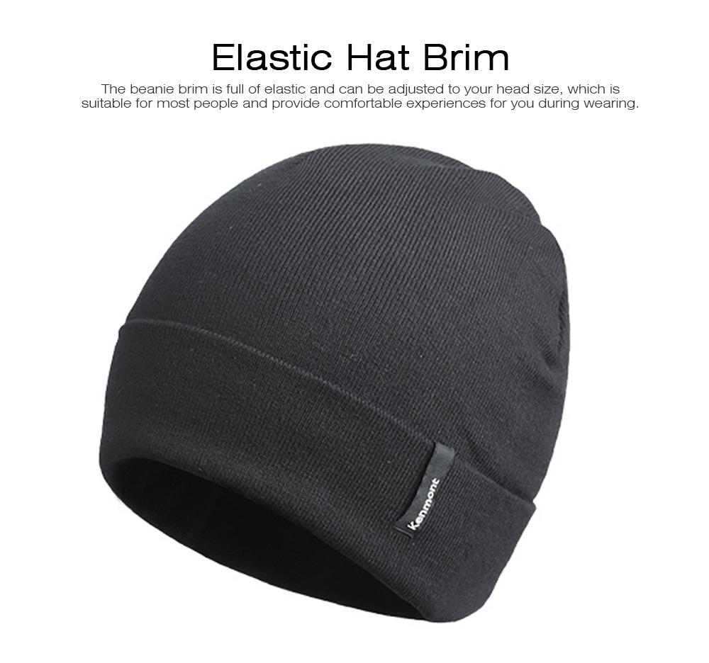 Minimalist Double Layers Winter Autumn Unisex Beanie, Ultra-soft Skin-friendly Viscose Fiber Polyester Elastic Hat for Men Women 2