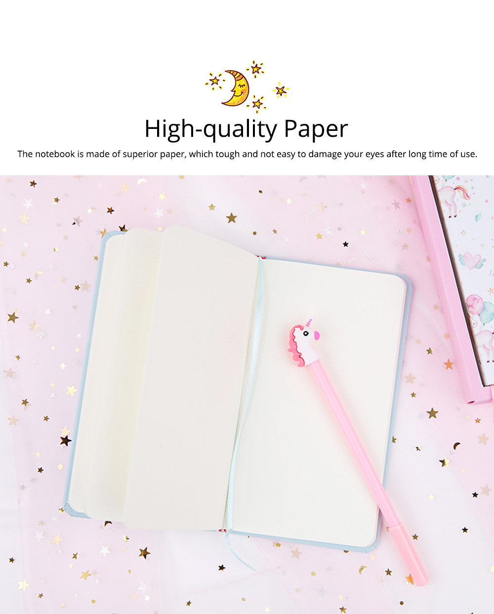 Cute Cartoon Notepads with Pen, Fancy Notepads & Pens Set Gifts for Girls 1